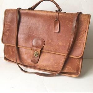Vintage COACH briefcase bag Rustic strap laptop